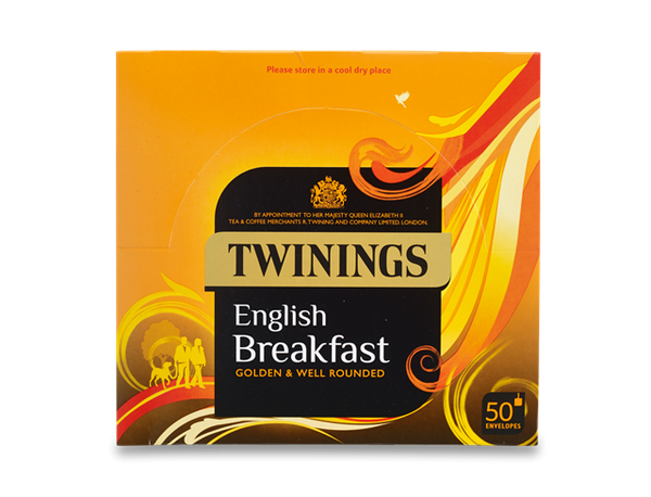 Twinings Traditional English Breakfast Tea 50 Bags (Tagged & Enveloped)