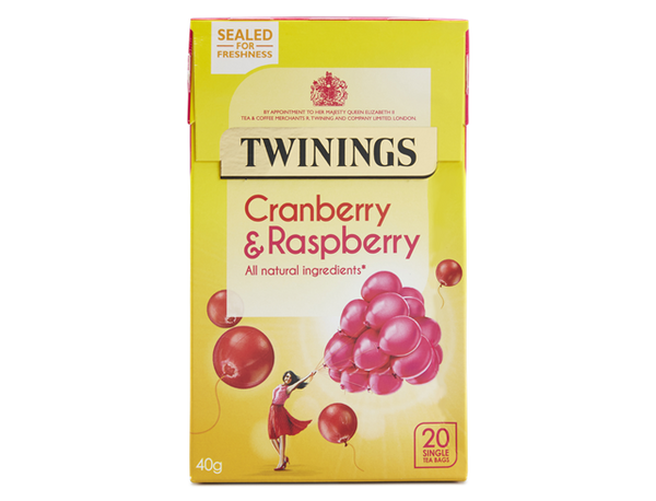 Twinings Cranberry & Raspberry Tea (12 boxes)