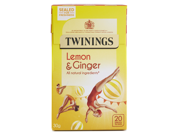 Twinings Lemon & Ginger Tea (12 boxes)