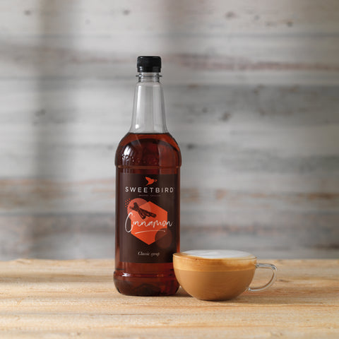 Sweetbird Cinnamon Syrup 1l with free pump