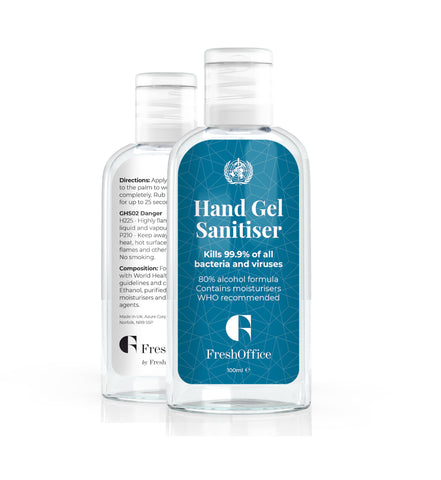 FreshOffice Hand Gel Sanitiser - 24 x 100ml