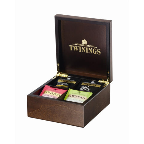 Twinings 4 Compartment Wooden Box