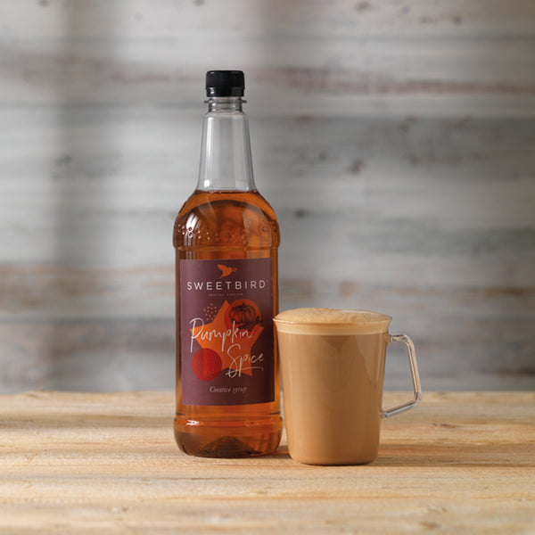 Sweetbird Pumpkin Spice Syrup 1l with free pump