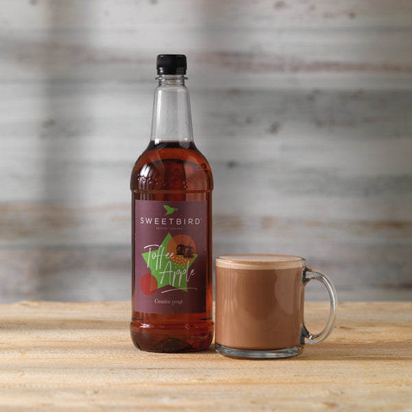 Sweetbird Toffee Apple Syrup 1l with free pump