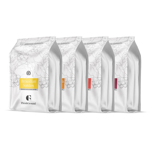 Premium Whole Bean Coffee Selection Pack 4 x 454g