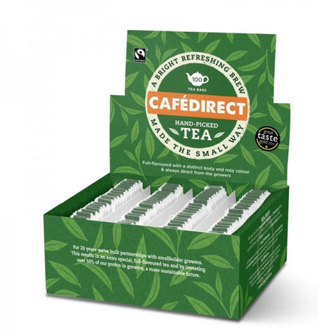 Cafe Direct Fairtrade Tea (String & Tagged)