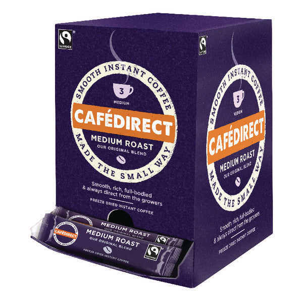 Cafe Direct Fairtrade Instant Coffee Sticks