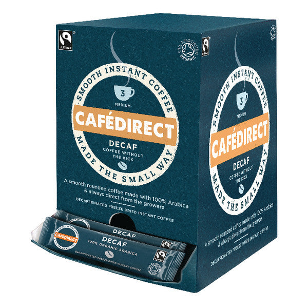 Cafe Direct Fairtrade Decaffeinated Instant Coffee Sticks