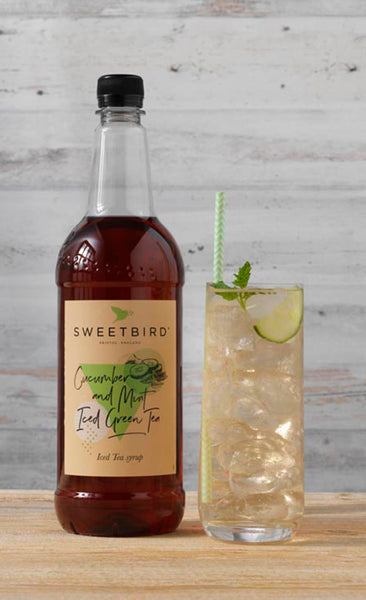 Sweetbird Cucumber and Mint Green Iced Tea Syrup