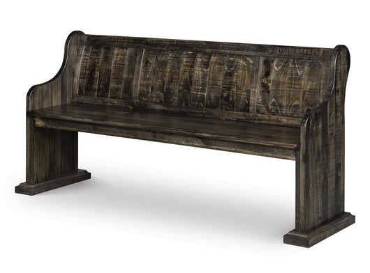 Addams Deep Weathered Pine Bench