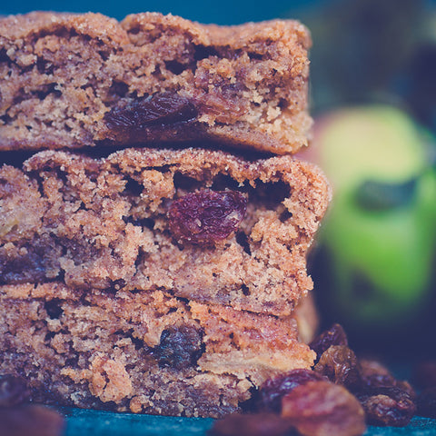 Apple, Sultana & Cinnamon Blondies