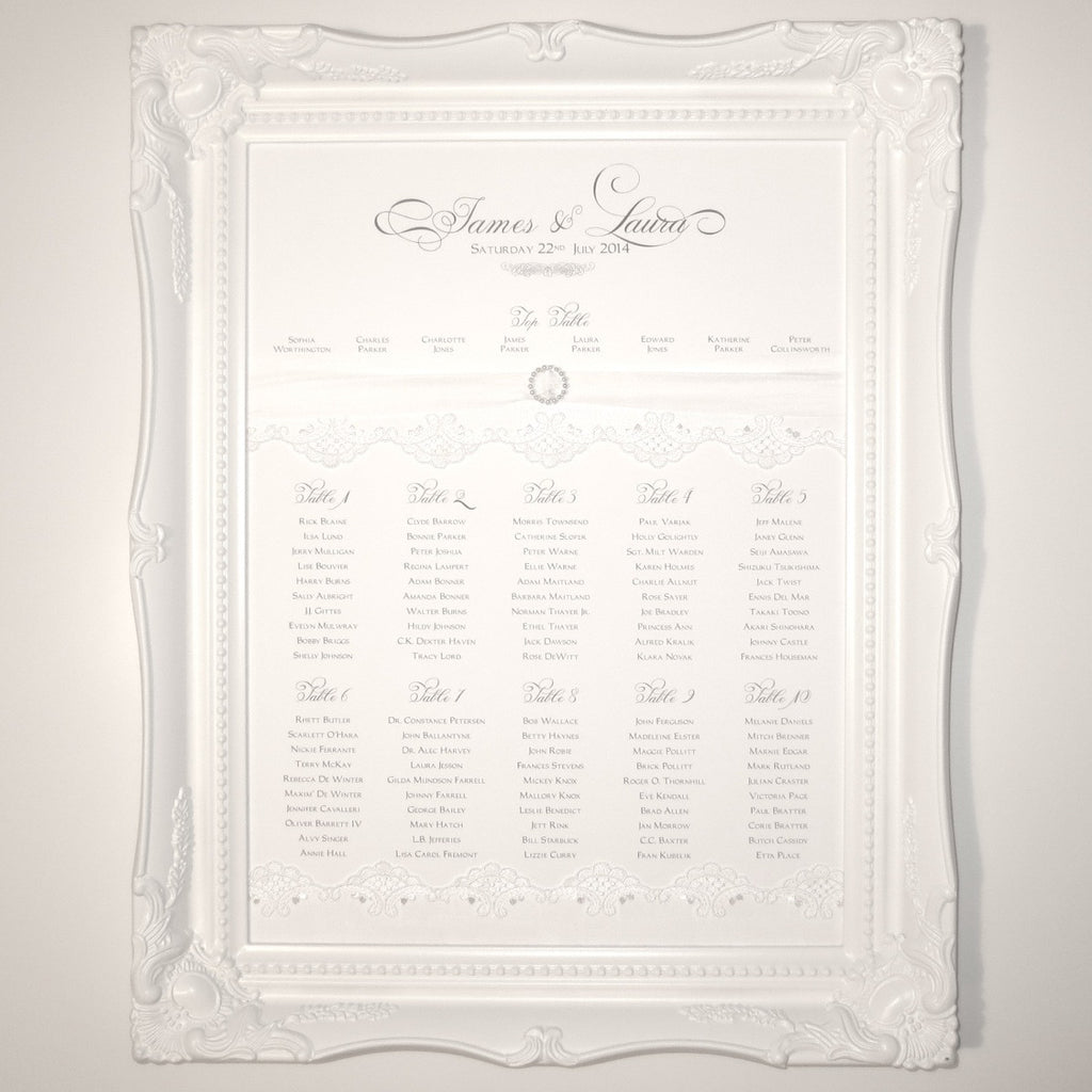 BEAUTY Table Seating Plan | Wedding Stationery | CeremonialsUK.com