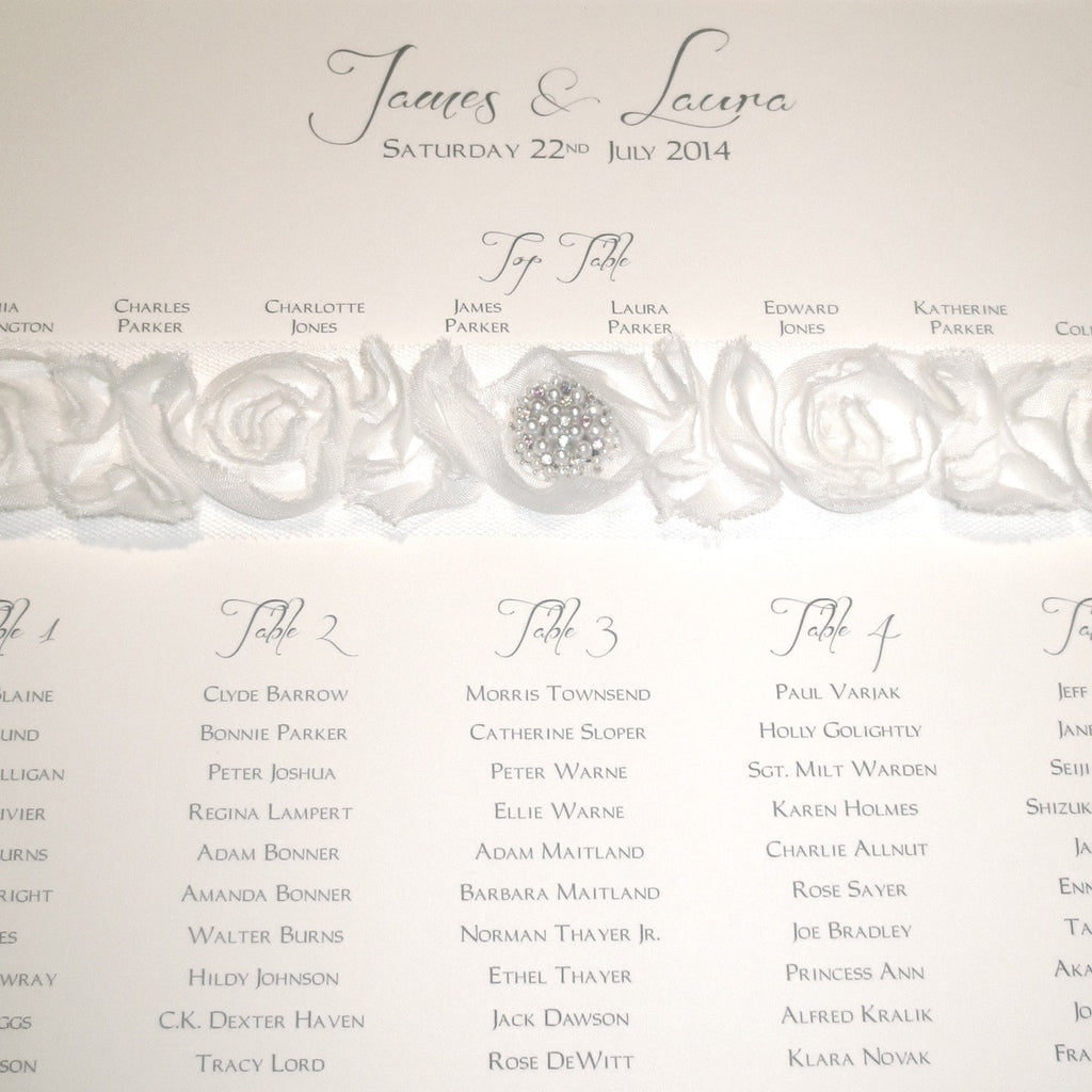 CHAMPAGNE Table Seating Plan | Wedding Stationery | CeremonialsUK.com