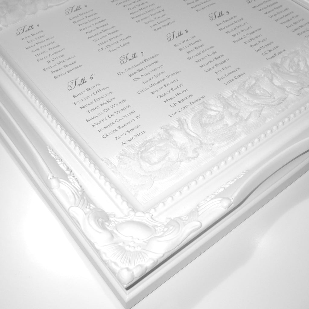 CORSAGE Table Seating Plan | Wedding Stationery | CeremonialsUK.com