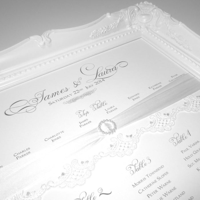 ETHEREAL Table Seating Plan | Wedding Stationery | CeremonialsUK.com