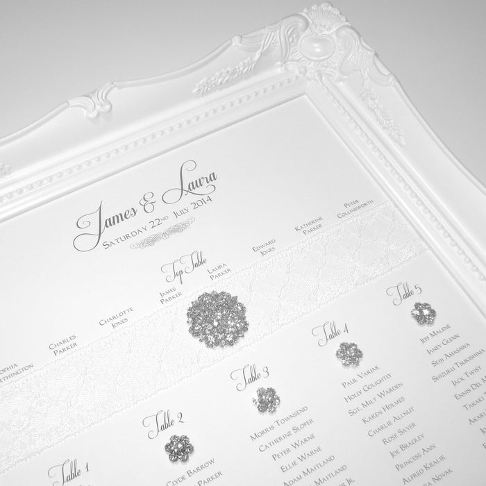 HERITAGE Table Seating Plan | Wedding Stationery | CeremonialsUK.com