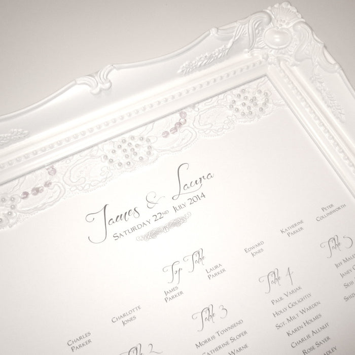 LACE Table Seating Plan | Wedding Stationery | CeremonialsUK.com