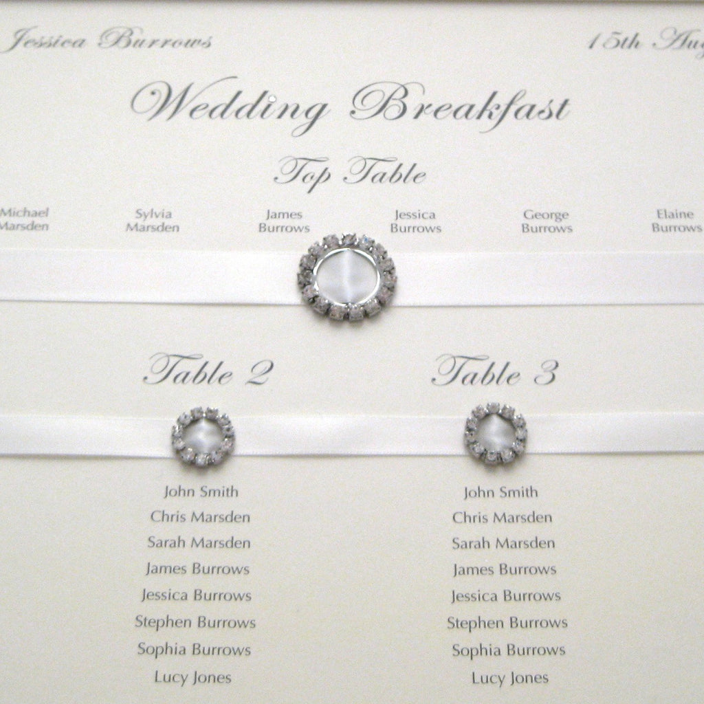 LUSTRE Table Seating Plan | Wedding Stationery | CeremonialsUK.com