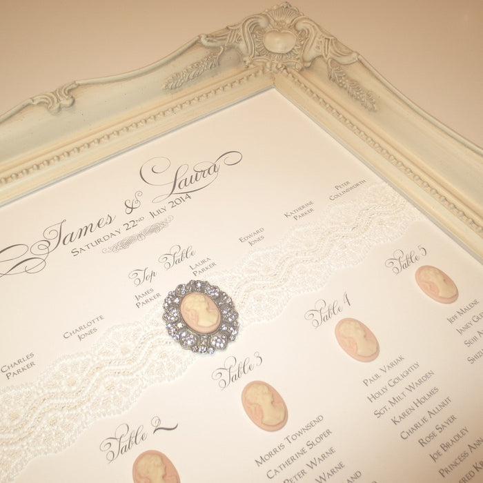 PORTRAIT Table Seating Plan | Wedding Stationery | CeremonialsUK.com