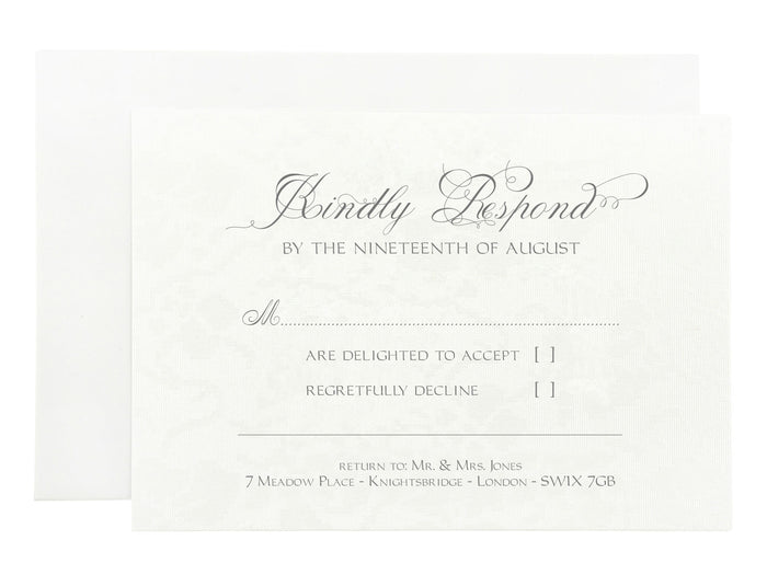 Reply Card | Wedding Stationery | CeremonialsUK.com