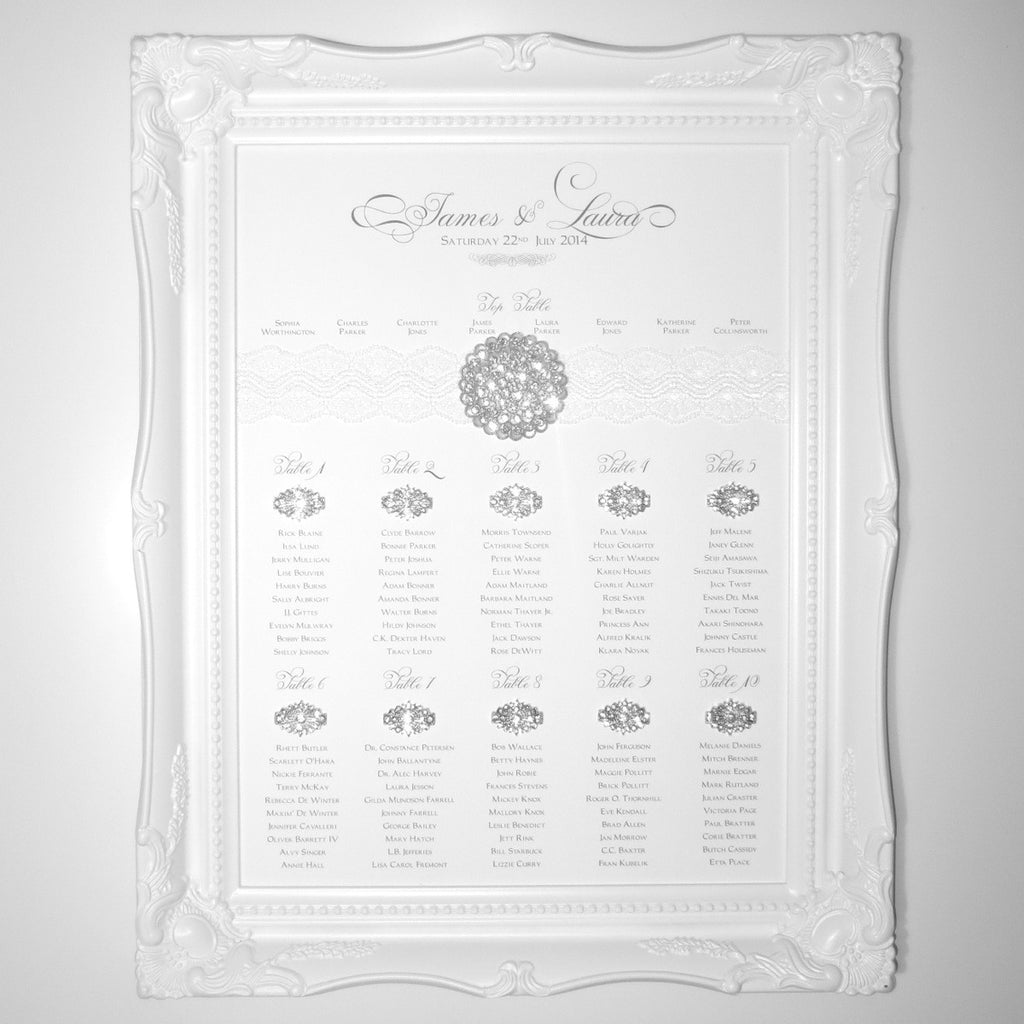 SPECTRUM Table Seating Plan | Wedding Stationery | CeremonialsUK.com