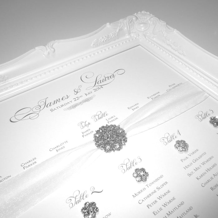 SPLENDOR Table Seating Plan | Wedding Stationery | CeremonialsUK.com