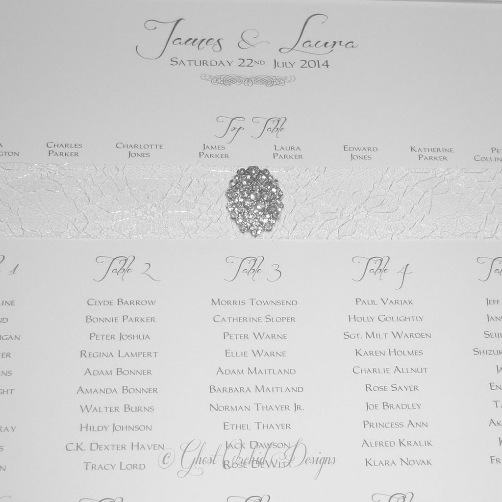 VINTAGE Table Seating Plan | Wedding Stationery | CeremonialsUK.com