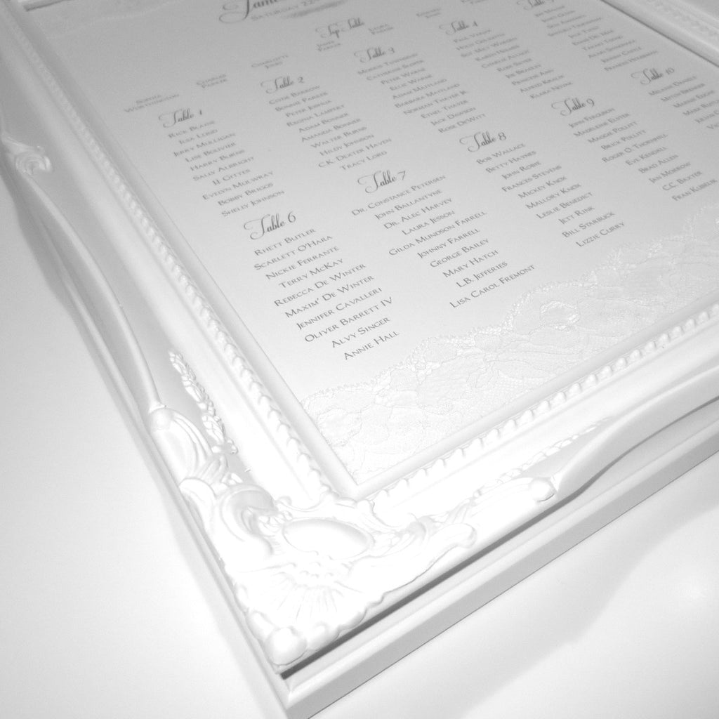 WHISPER Table Seating Plan | Wedding Stationery | CeremonialsUK.com