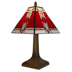 Aztec Tiffany Table Lamp-Table and Floor Lamps-Smart Lighting World
