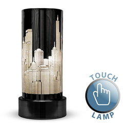 Gloss Black Touch Table Lamp New York Style Shade-Table and Floor Lamps-Smart Lighting World