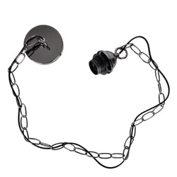 Chain Suspension Kit Black Chrome-Ceiling Rose-Smart Lighting World