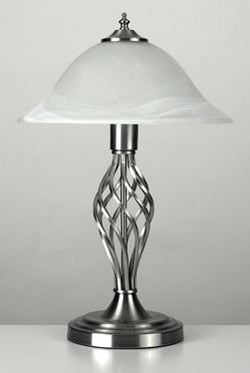 Memphis Twist Satin Table Lamp-Table and Floor Lamps-Smart Lighting World