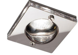 IP65 GU10 50W Square Clear Glass Downlight in Chrome-Bathroom-Smart Lighting World