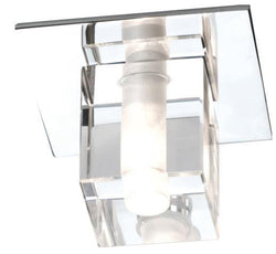 Decorative Square Glass Fitting (comes with lamp)-Bathroom-Smart Lighting World