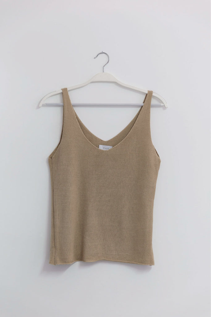 KNIT TOP NATURAL