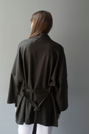 PHILIP COAT - DARK GREEN