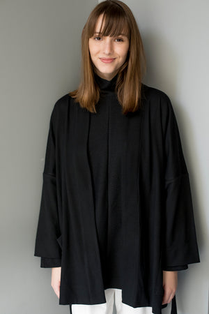 PHILIP COAT - BLACK