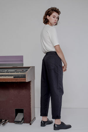 SERGE PANTS - BLACK