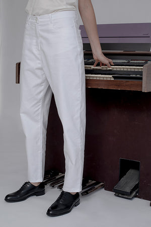SERGE PANTS - WHITE