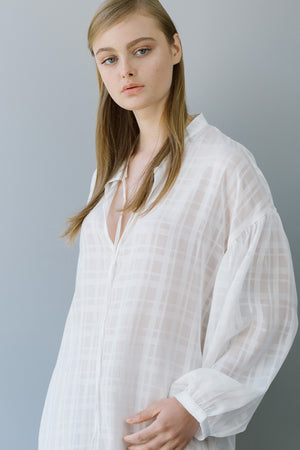 RUBY SHIRT - WHITE CHECKERED
