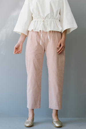 BLUE SKY PANTS - PINK STRIPES