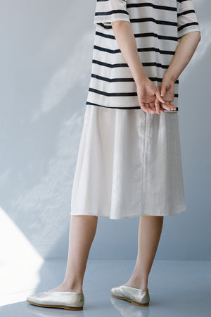 QUARTS SKIRT - WHITE