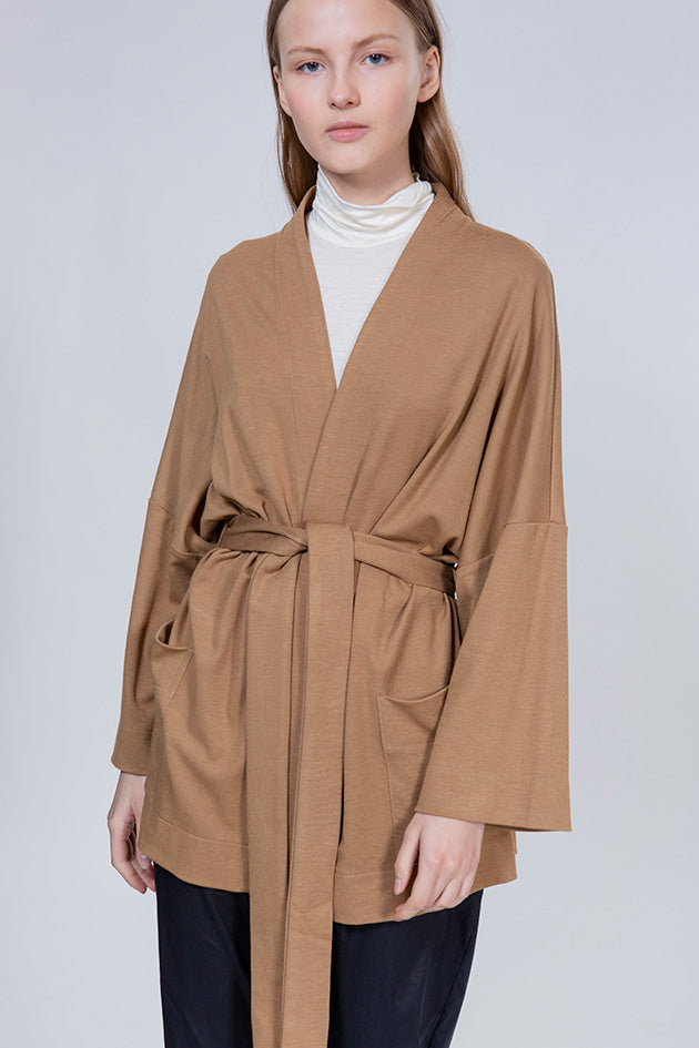 SUNSET COAT - CAMEL