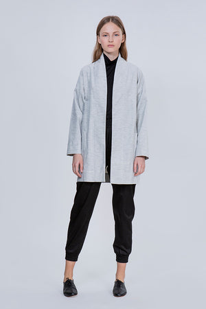 RELAXED COAT - LIGHT GRAY