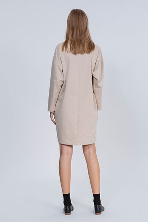 CANVAS DRESS - NUDE
