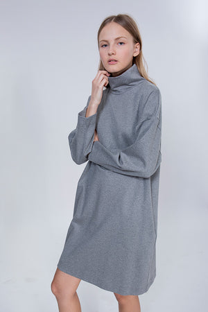 CANVAS DRESS - GREY