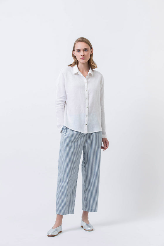 CLOUDS SHIRT - WHITE LINEN