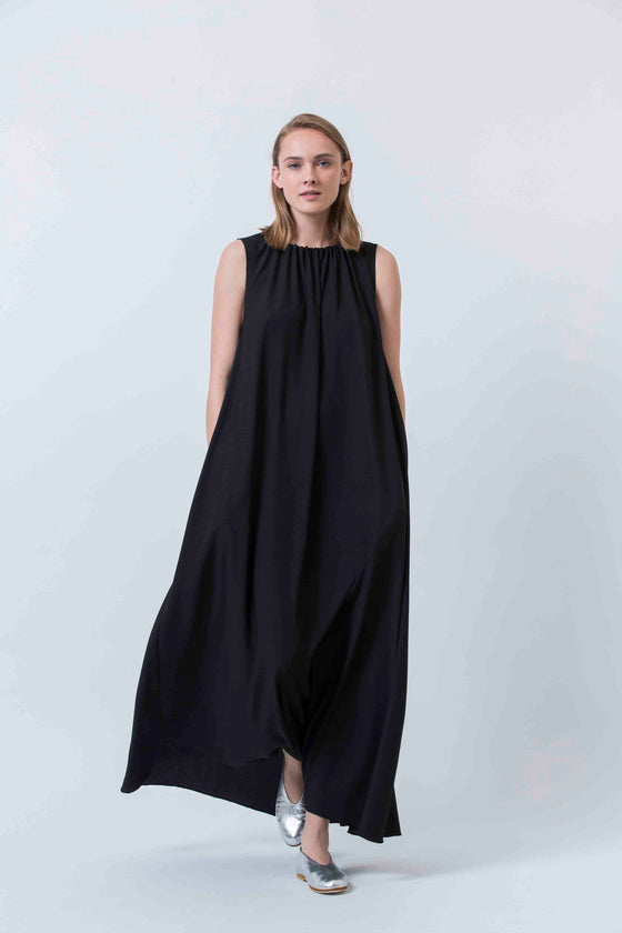 PEONY DAY DRESS - BLACK
