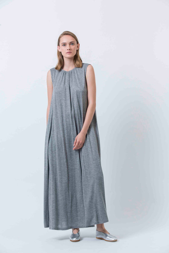 PEONY DAY DRESS - GRAY