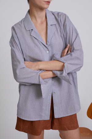 OVERSIZED SHIRT - BLUE